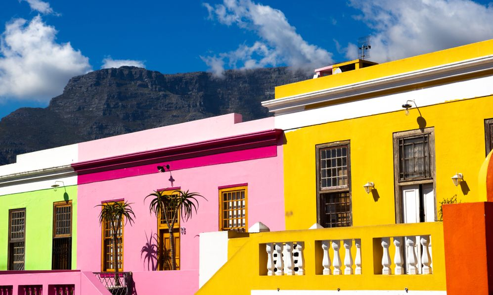 the colorful houses of Bo Kapp in Cape Town, South Africa