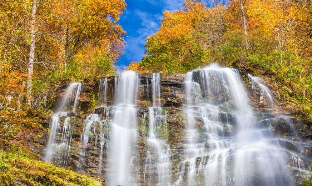 Amicalola Falls State Park, Georgia in autumn