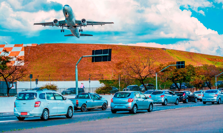 Airplane departure Sao Paulo - Congonhas Airport, cgh, Brazil.
