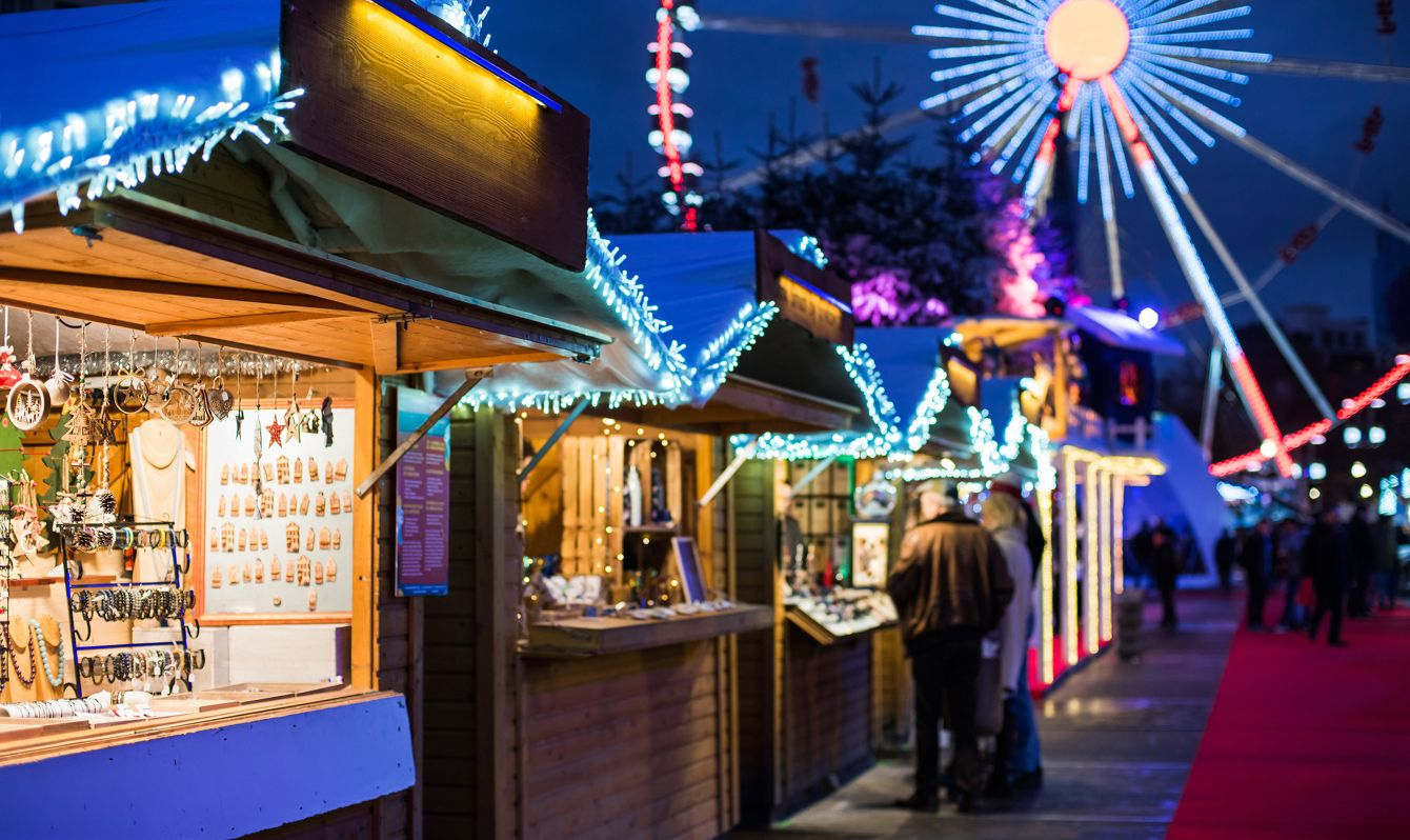 Christmas fair. Holidays concept