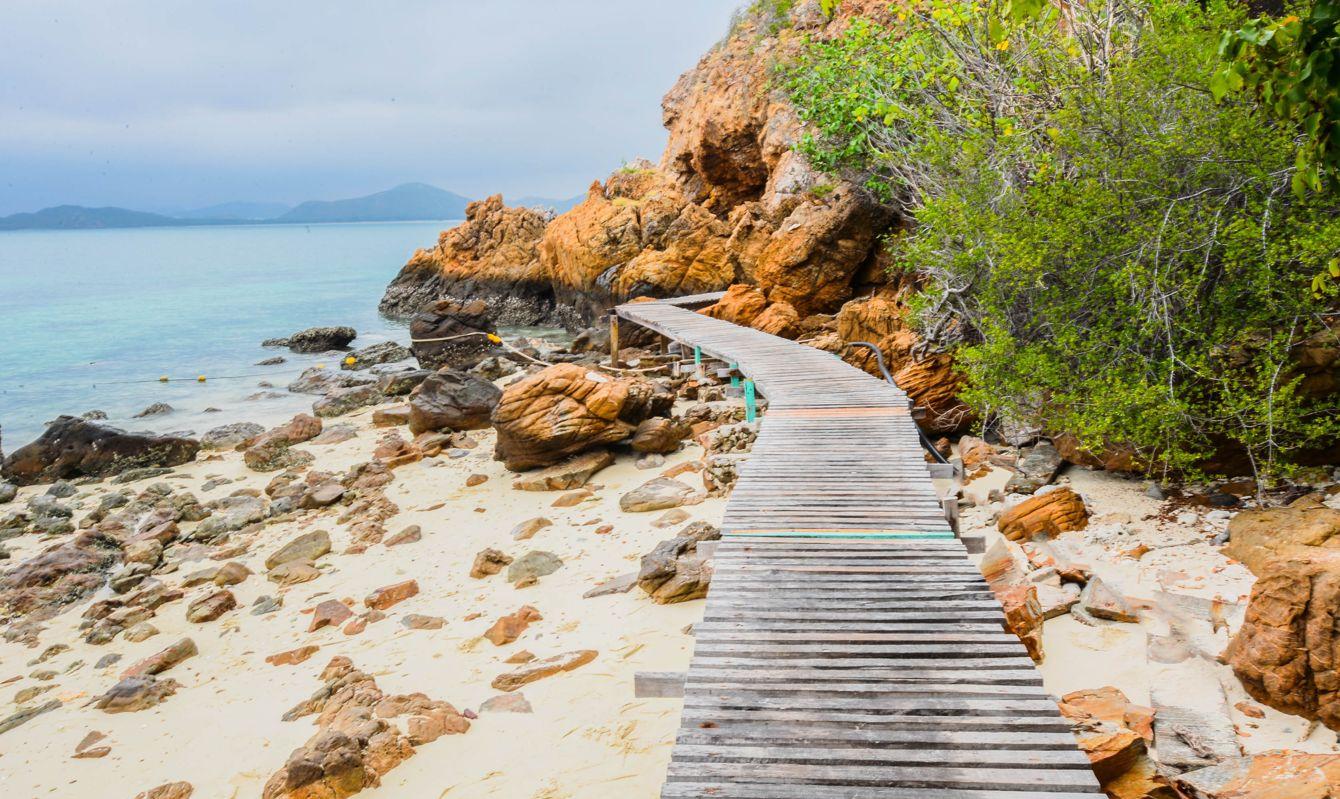 Boardwalk and sea