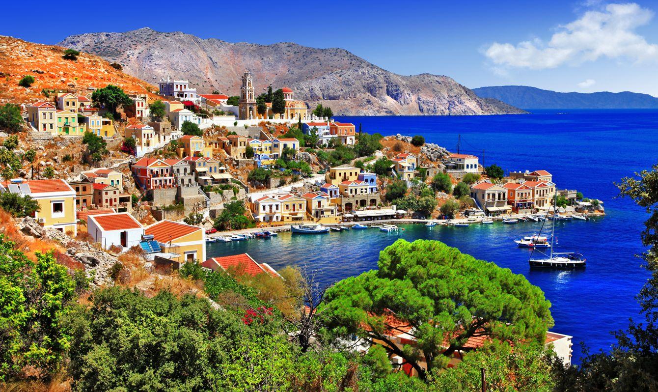 Beautiful Greek island,