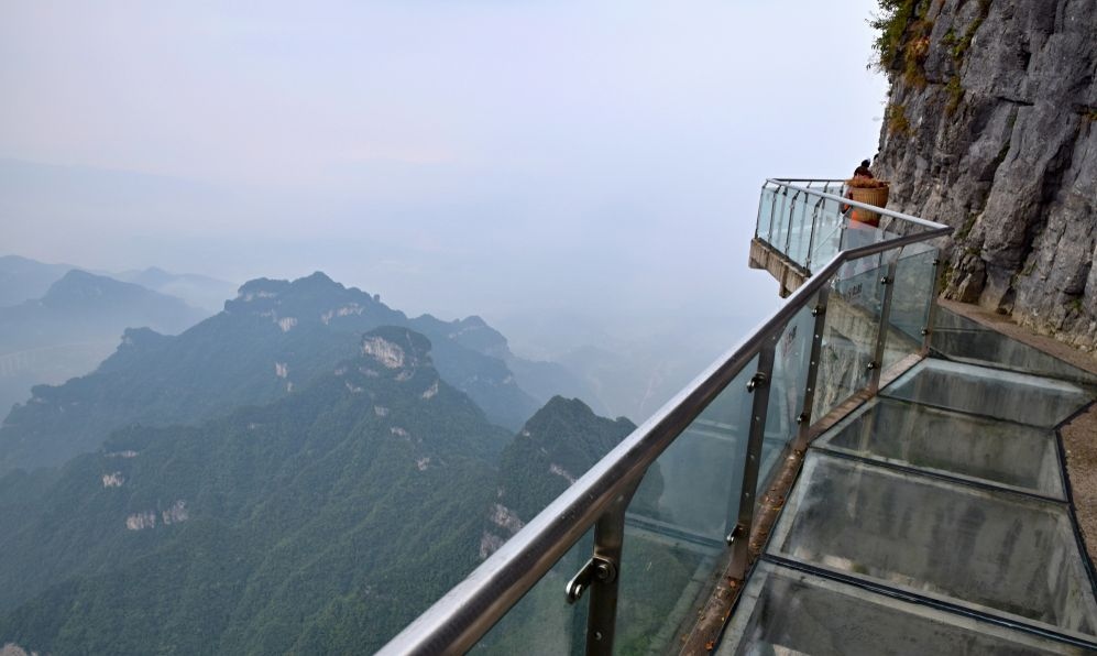 Tianmen Mountain, Heaven's Gate Mountain, is located within Tianmen Mountain National Park, Zhangjiajie, in the northwestern part of Hunan Province, China.