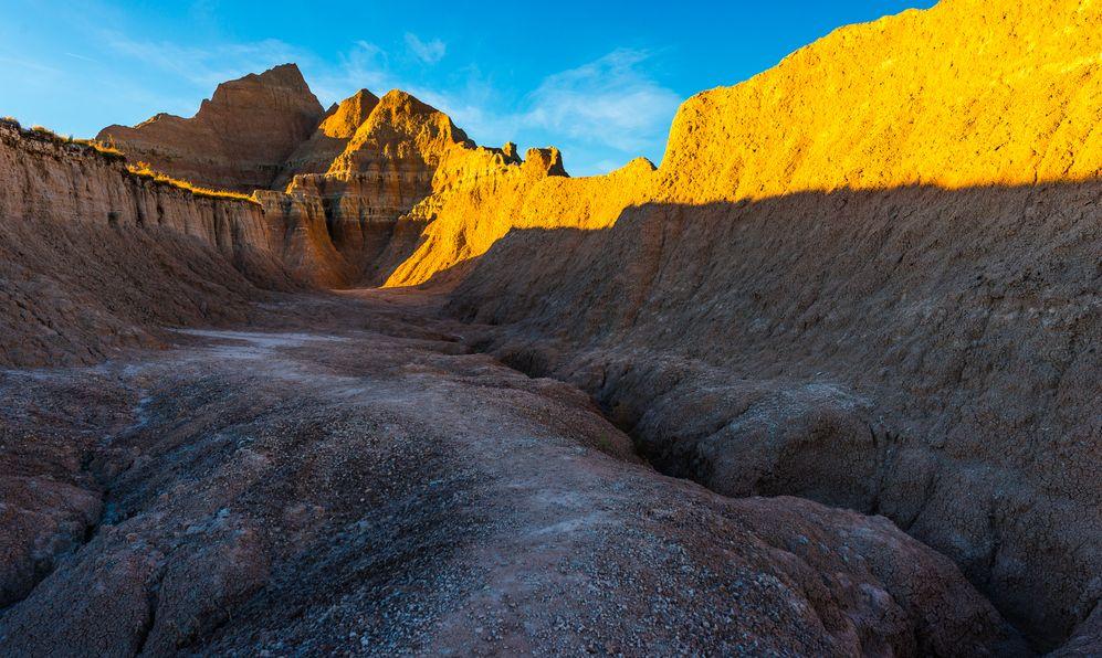 Medicine Root Trail at Sunset Badlands National Park South Dakota