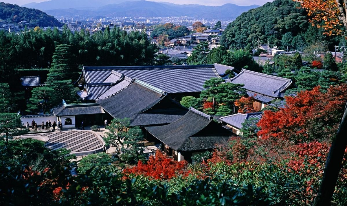 Japanese temple rooftops