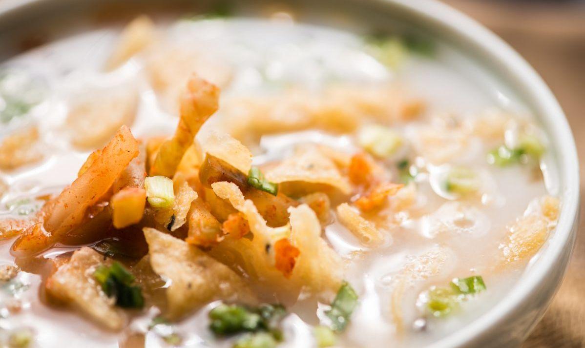 Rice porridge.