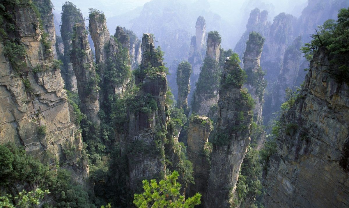 Photo of Wulingyuan Scenic Area, China with its towering rock formations