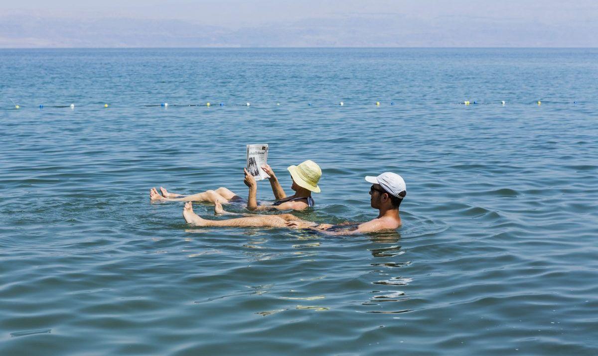 Womanbathing in Dead Sea