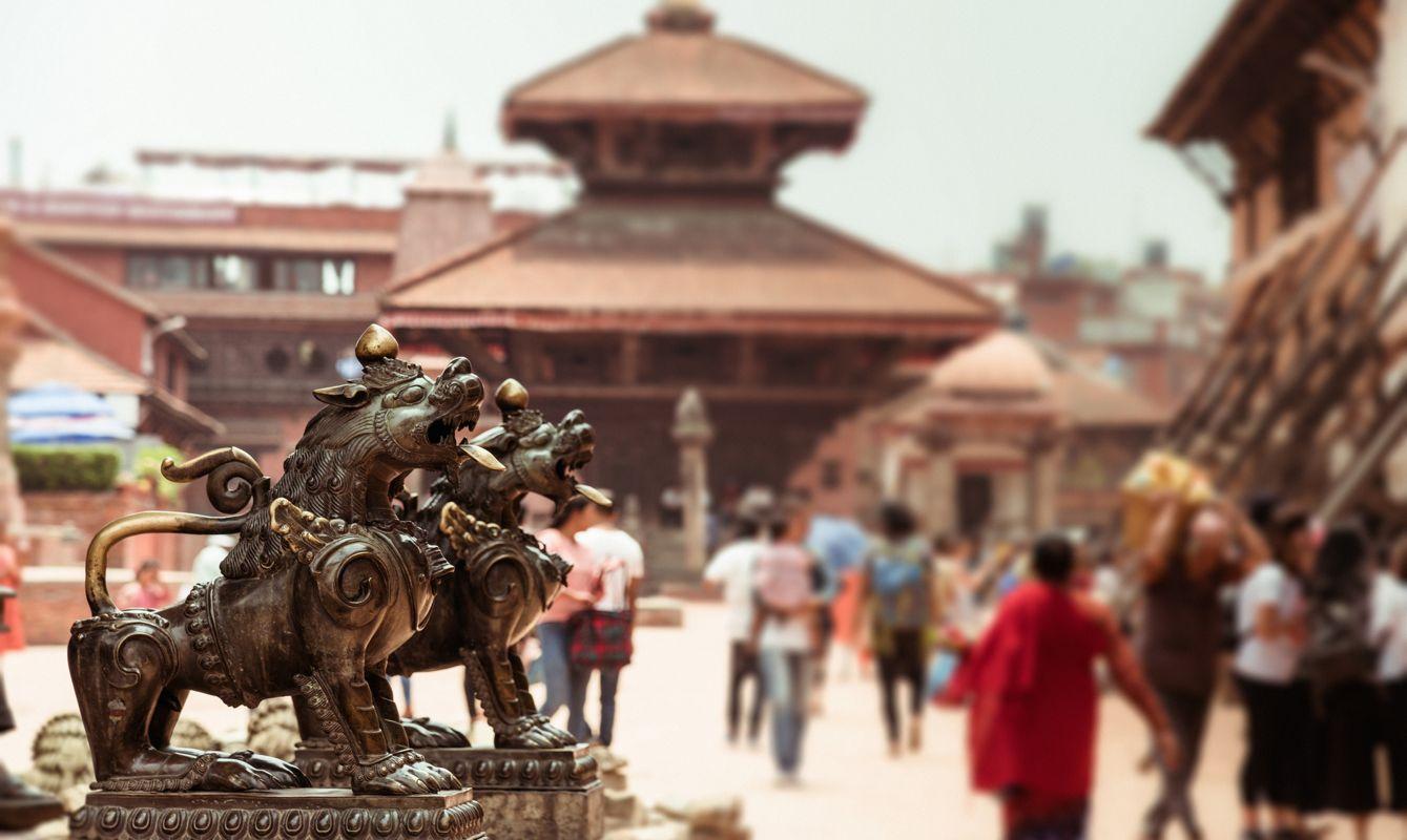 patan urban scene in kathmandu