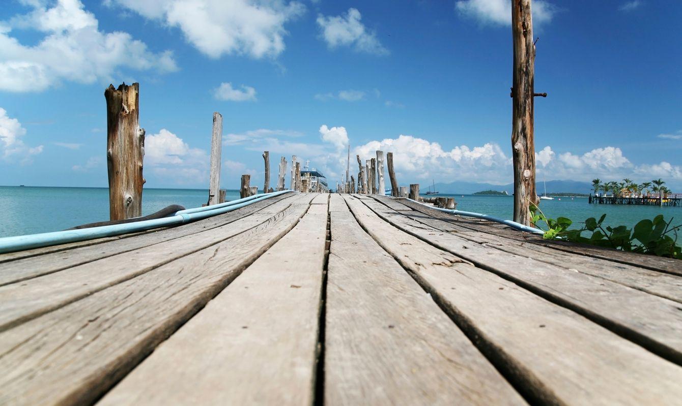 Beach Dock in Honduras