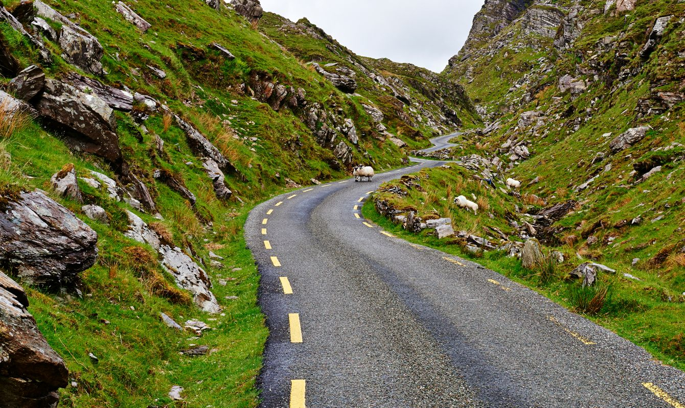 Ireland, Kerry County, ring of Kerry Road.