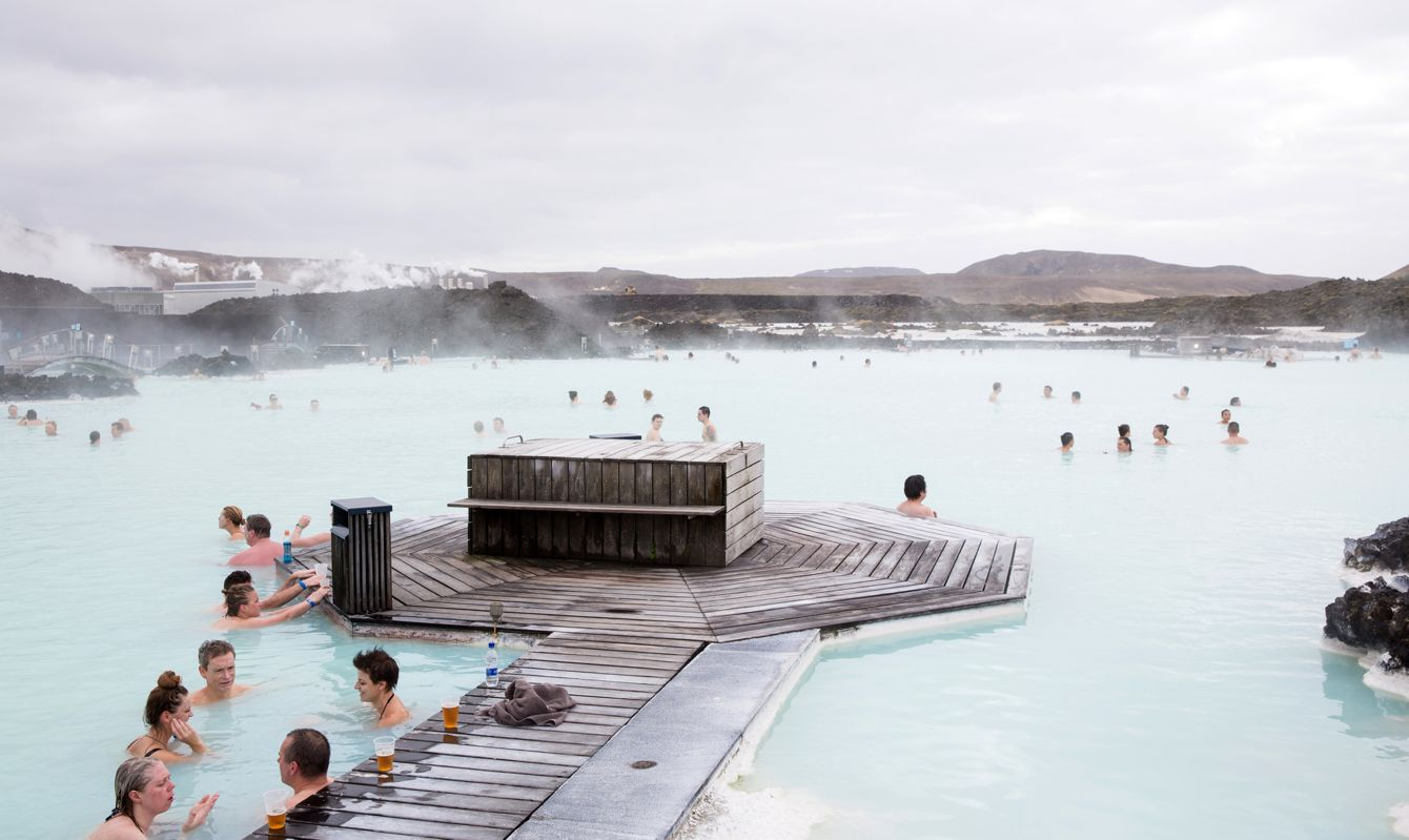 People at the Blue Lagoon, Iceland