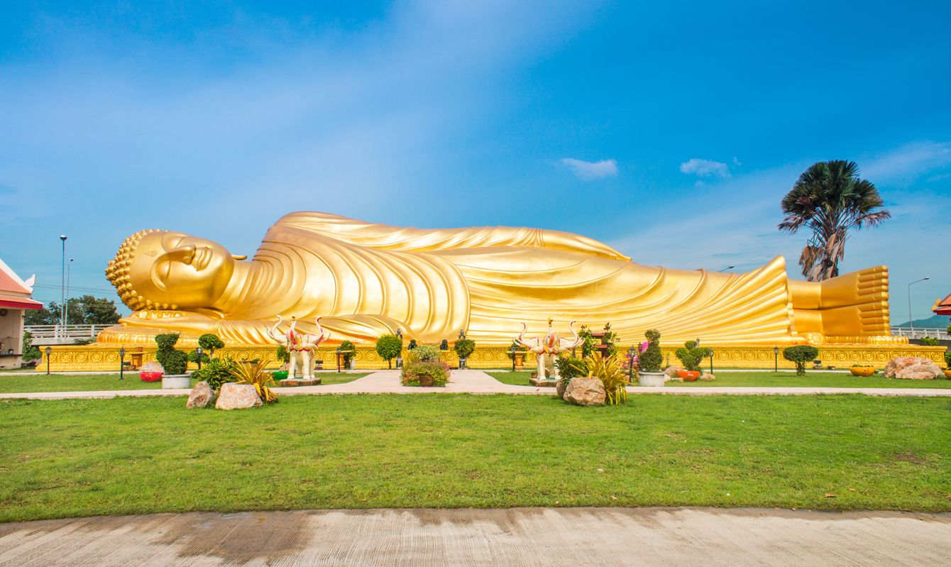 Reclining Buddha statue in Songkhla Province, Thailand