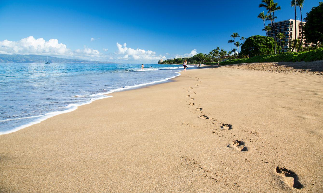 A Maui scenic view, Kaanapali Beach